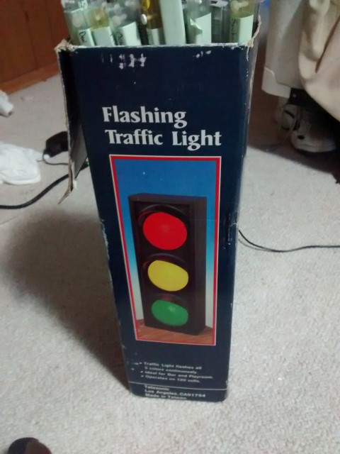 Flashing Traffic Light Box