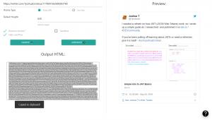 Twitter IFrame Embed Generator - Demo