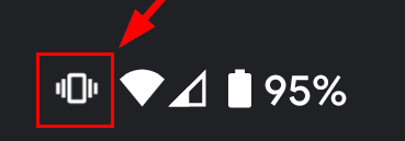 Android vibrate only ringtone mode icon in status bar